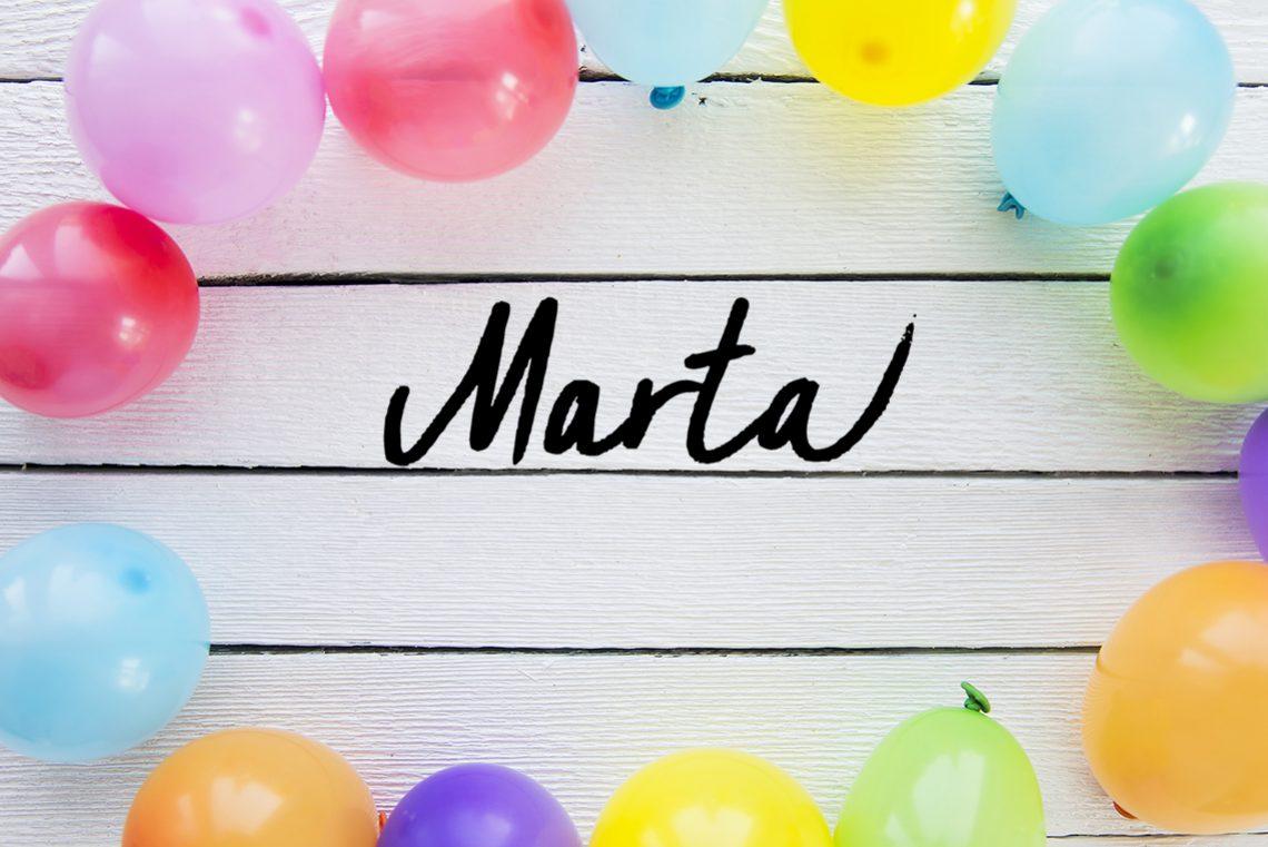 Ahoj, moje meno je Marta